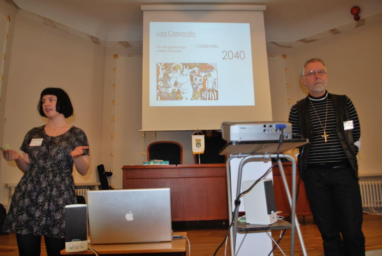 Fransesca Hansen och Bo Glans presenterar förslaget